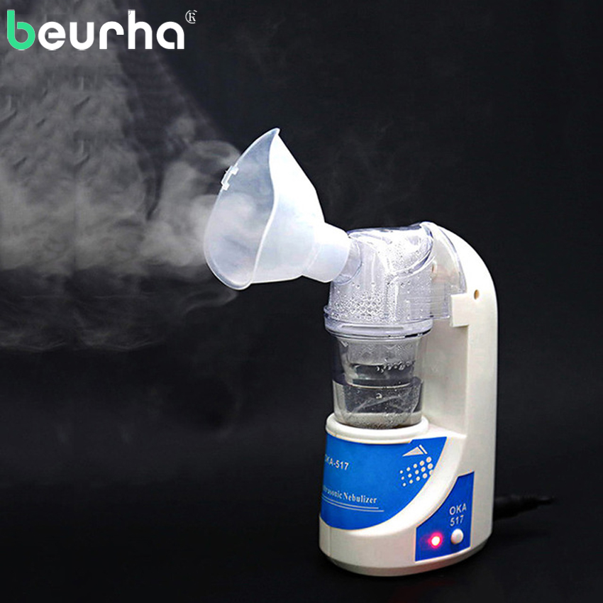 Beurha Medical Nebulizer Mini Automizer Children Care Inhale Nebulizer Home Ultrasonic Nebulizer Health Care Drop Shipping 110v 220v portable home health care atomizer beauty instrument children care inhale nebulizer humidifier