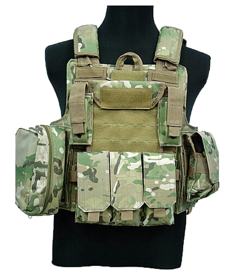 Army CIRAS Vest Airsoft Paintball Combat Duty Tactical Vest Magazine Pouch Armor Plate Carrier Molle Vests