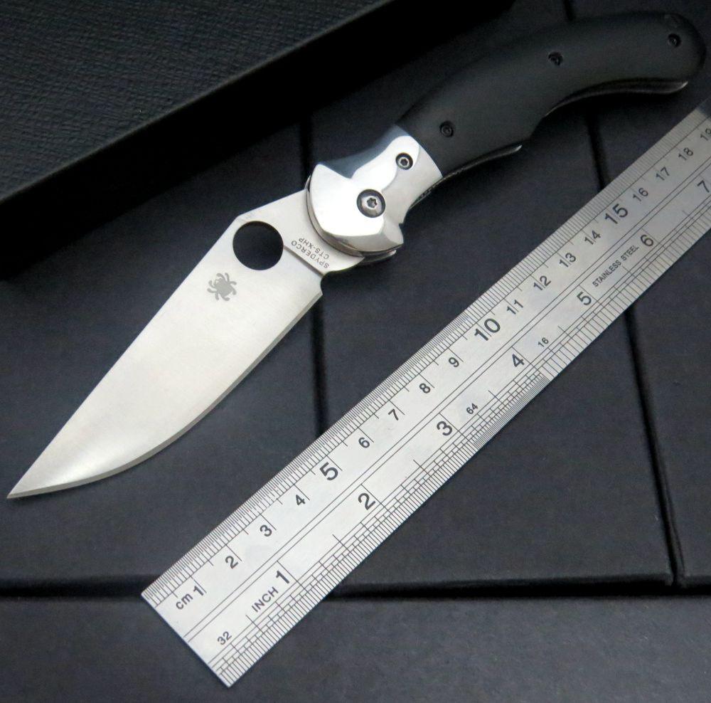Custom C173 Folding Blade font b Knife b font G10 Titanizing Steel Handle Camping Hunting Survival
