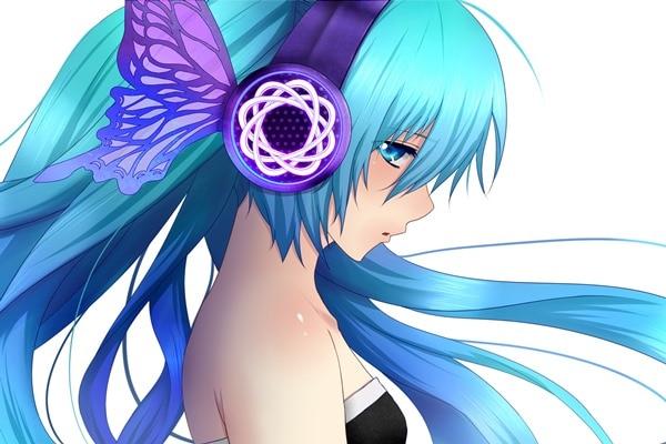 Vocaloid синий волос daburu Хацунэ Мику наушники длинные волосы магнит Vocaloid 4 размера украшения дома холст плакат Принт