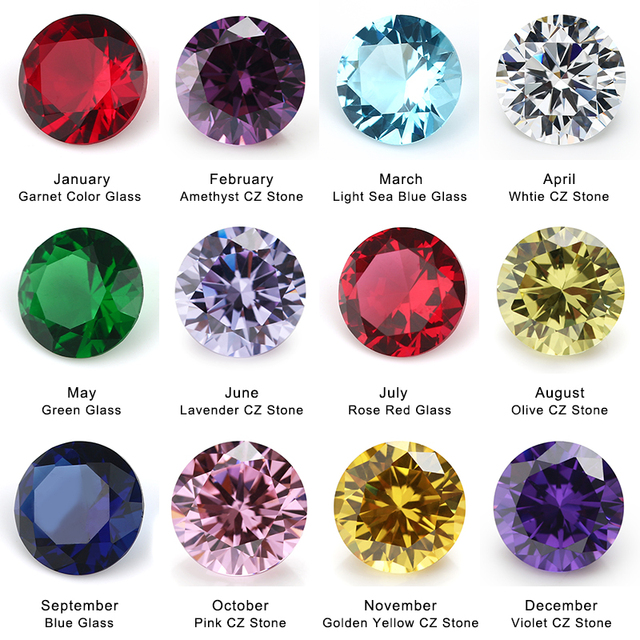 ووتشو جيانغ يوان gmes 50 قطعة لكل الألوان مجموع 600 قطعة حجر عيد ميلاد مستديرة حجر فضفاض الزجاج و مكعب زركونيا حجر كريم صناعي