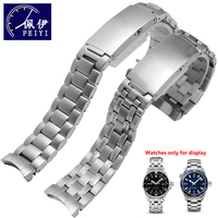 PEIYI Watchband Solid Stainless Steel Wristband 20mm Replacement Steel Strap Male Watch Accessories For omega 007