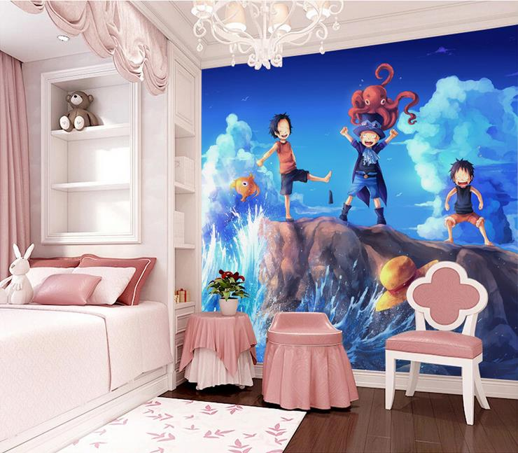 3d room wallpaper custom mural non-woven wall sticker One Piece anime photo sofa TV background wall photo wallpaper for wall 3d 3d room photo wallpaper custom mural moth orchid 3d photo painting room sofa tv background wall wallpaper non woven wall sticker