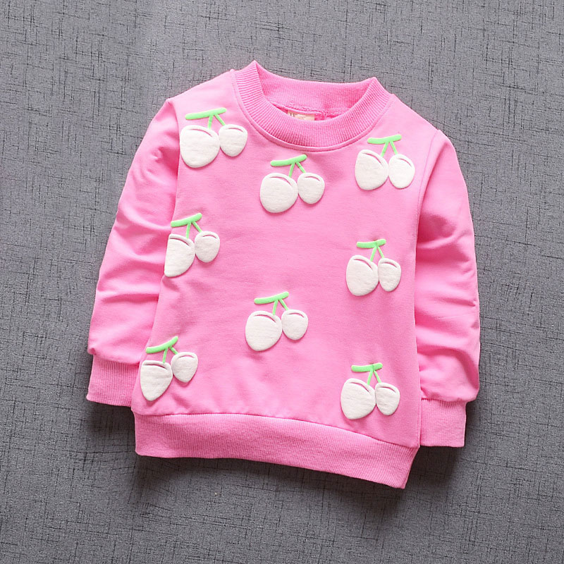 inlovill New <font><b>Baby</b></font> Girls Clothing Cherry Blossoms Girls <font><b>Long</b></font> <font><b>Sleeve</b></font> T <font><b>Shirt</b></font> Children's Clothing Casual Sport Tops Tee <font><b>Shirt</b></font> image