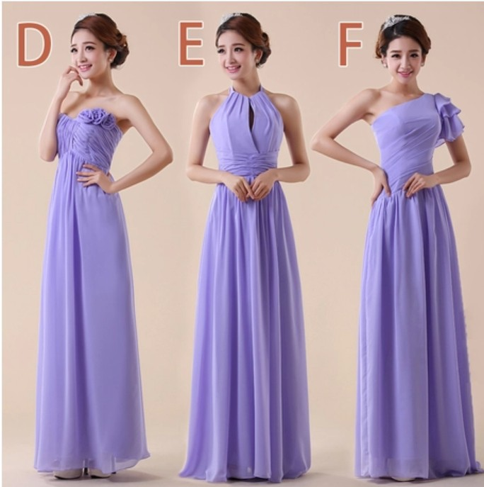 Customized Size Color Lavender Light Purple Bridesmaid Dresses Group Free Shipping Diffe Styles Por 2017 New Arrival 02 In From
