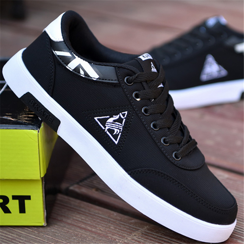 Men Casual Shoes Adult Spring Autumn Classic Fashion Male Lace Up Flats Comfortable Sneakers Tenis Masculino Man Leisure Shoes cirohuner leather casual men shoes male lace up flats black men krasovki flat heel sneakers tenis masculino comfortable shoes
