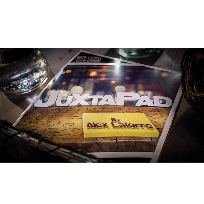 JuxtaPad Gimmick And Online Instructions By Alex Latorre And Mark Mason - Trick Close Up Magic Props Illusions Mentalism Fun