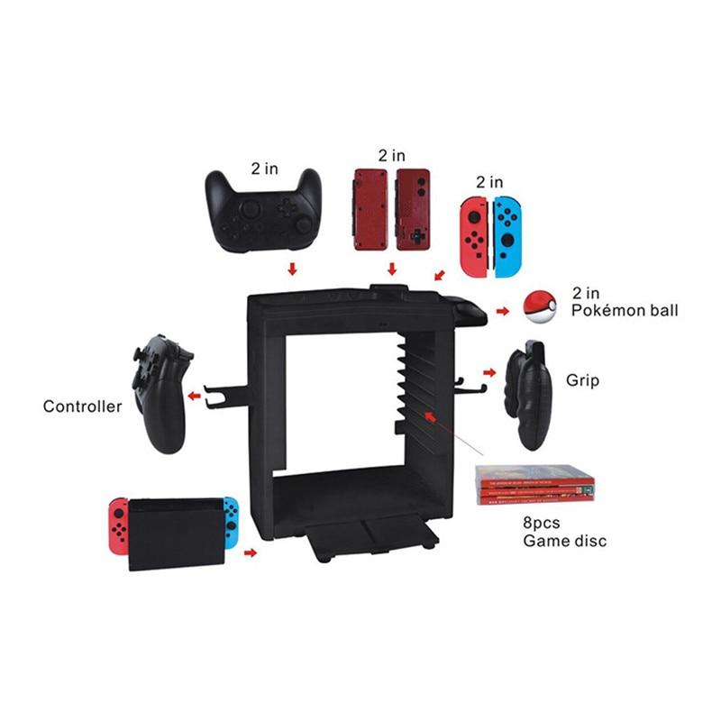 Купить с кэшбэком Nintend Switch NS Showcase Bracket Tower Holder Storing Charger Charging Stand For Nintendos Switch Pro Switch online Joycon