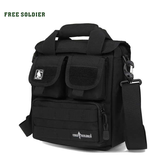 FREE SOLDIER Outdoor Sports CORDURA Material YKK Zipper Single Shoulder Bags For Hiking&Camping Men's Tactical Handy Bags