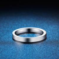 ZHJIASHUN Pure Gold Engagement Ring To Man And Women 10k White Gold Eternal Ring Wedding Band Lovers' Rings