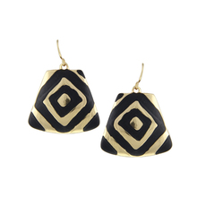 Free Shipping Min Order $10 (Mix Order) 2014 New Fashion Women Black Enameling Gold/Silver Plated Rock Drop Earrings Jewelry