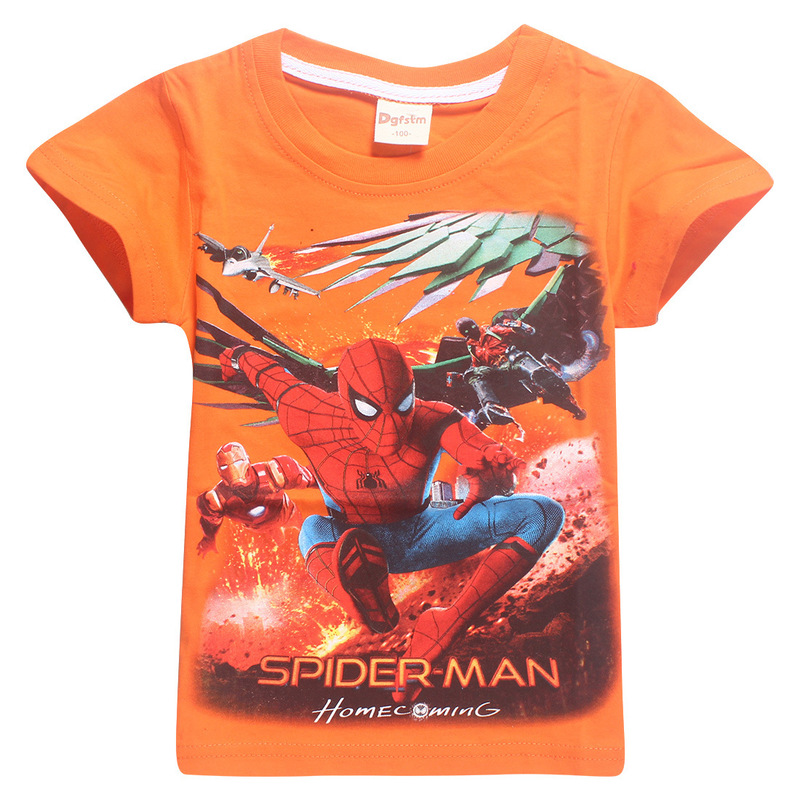 Roblox Spider Man Homecoming Shirt - 2018 Kids Tops Tee Baby Spider Man Clothes Boy And Girl The