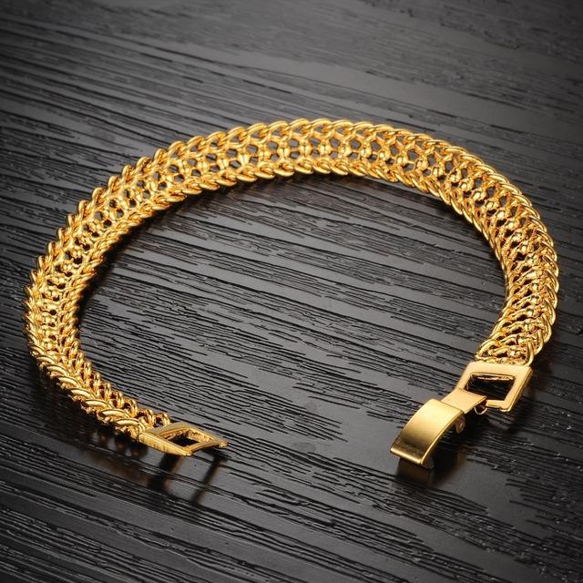 Bracelets & Bangles New Design Women Wedding Bracelet Luxury Gold Plate Women Bracelet Fashion Jewelry KS424