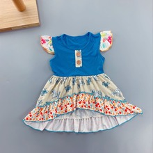 baby dress new style  dress Summer floral Flower Sleeveless Infants toddler Kids ruffled dresses baby girl boutique clothing 5p202 5 5pcs lot baby girls dress 2017 new wedding dresses girl summer lace wholesale baby boutique clothing