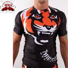2016 new arrived short long sleeve sublimated mma fight rash guard muay thai brazilian jiu jitsu compression Martial Art shirt