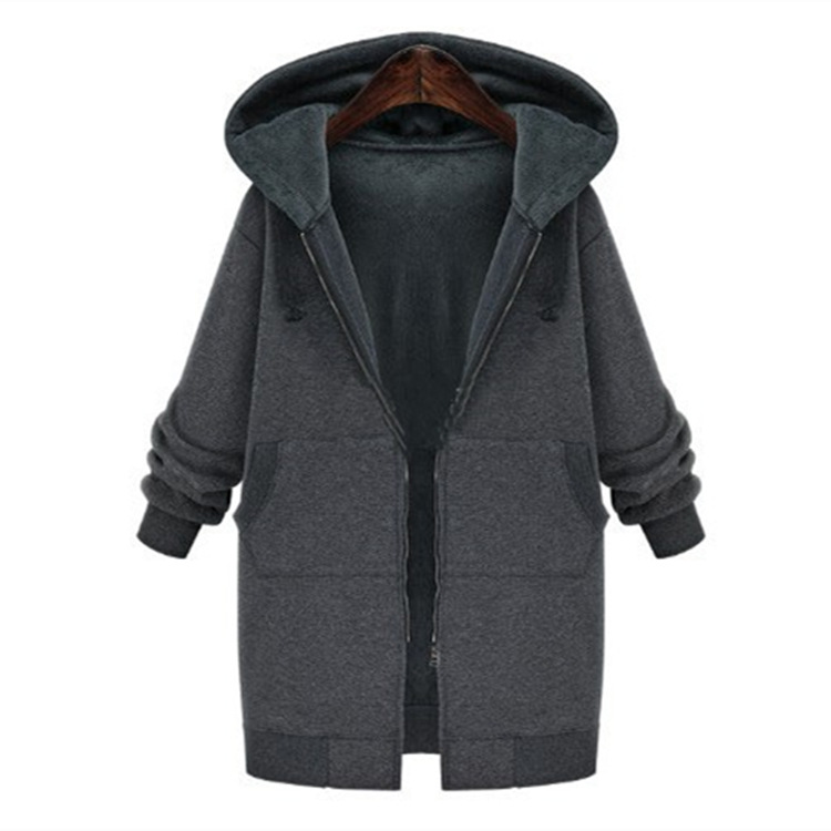 2016 New autunm and winter women   trench   coat slim fashion medium-long windbreaker patchwork OL hooded outwear free shipping