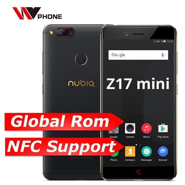 "Nubia Z17 Mini 4 GB 64 GB mundial ROM teléfono móvil Octa Core 5,2 ""1920X1080 p Dual parte trasera 13.0MP huella dactilar NFC banda 7"