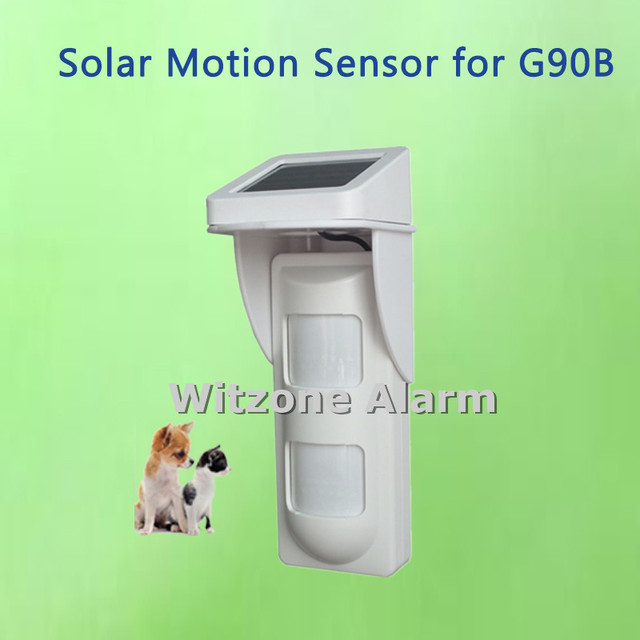 Marvelous WIFI Alarm G90B Outdoor Motion Sensor Solar Powered External Weatherproof  Pet Friendly PIR Detector With 2