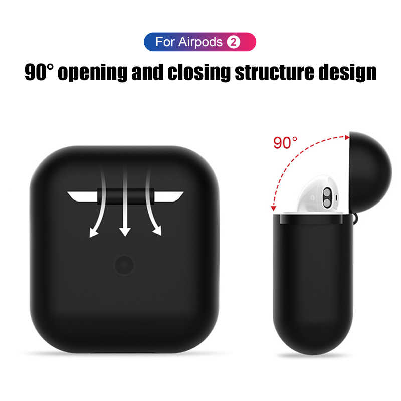 New Soft Custodia In Silicone Per Apple Airpods 2 funda Copertura su Per Air Pod 1 2 Custodie Ultra Sottile del trasduttore auricolare caso cuffia Per airpods2