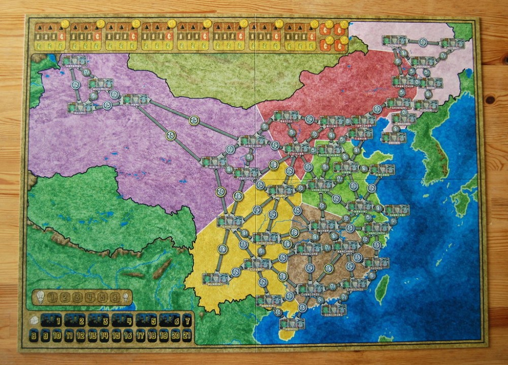 China Map Game.Power Grid China Korea Maps Extended Maps Board Game In Board