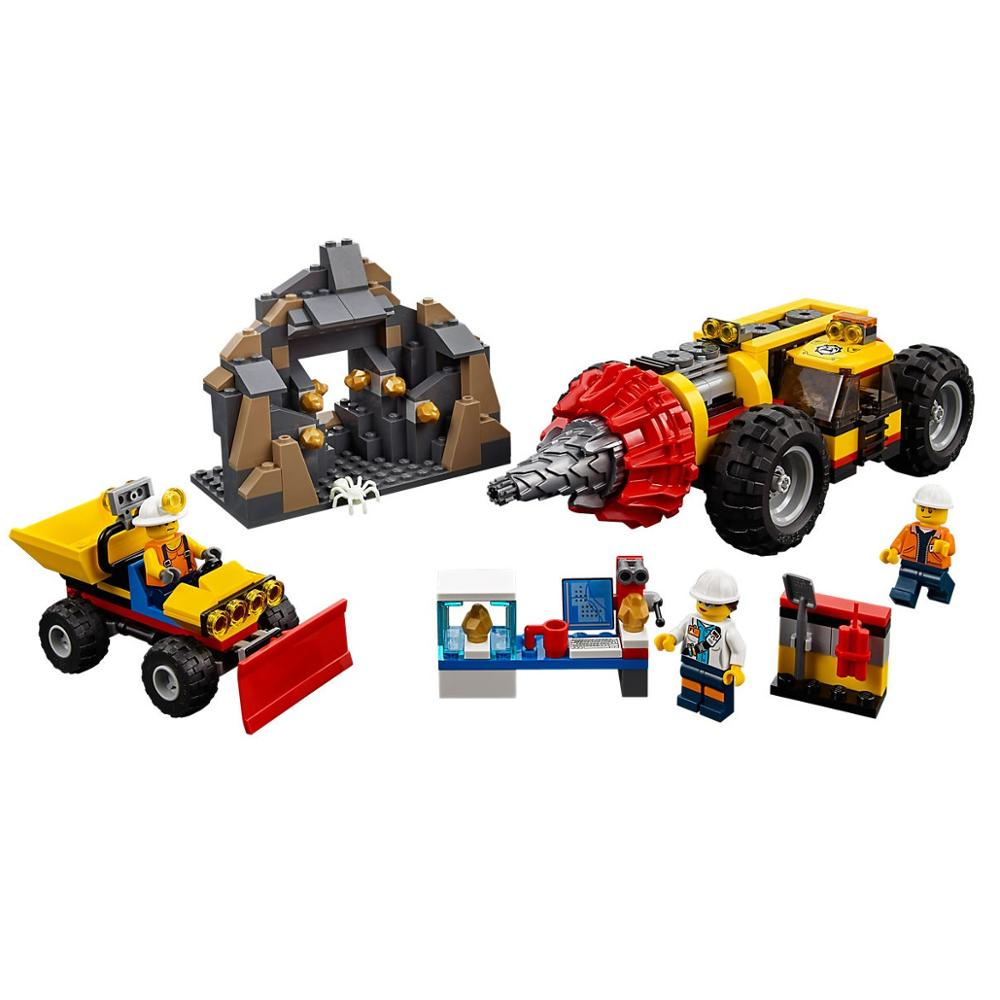 Mining Heavy Driller Bricks Building Blocks Compatible Legoe City 60186 Model Toys For Childrens Gift 329Pcs