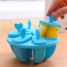 BF015 Creative ice mould cream mold with cover Popsicle round box 6cells 13.5*6.5cm