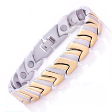 Gold Bracelet Health Healing Magnetic Bracelets Femme Stainless Steel Bracelet&Bangle Hand Chain Charms Jewelry Accessory