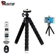 Rovtop polvo mini tripé suporte portátil flexível smartphone clipe titular câmera stent smartphone tripés dobrável desktop