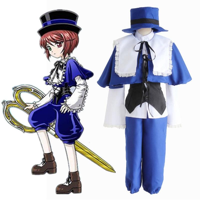 Anime Peach-Pit Rozen Maiden Souseiseki Cosplay Costumes Lapislazuli Stern Full Set Uniform Halloween Costume  Size S-XL