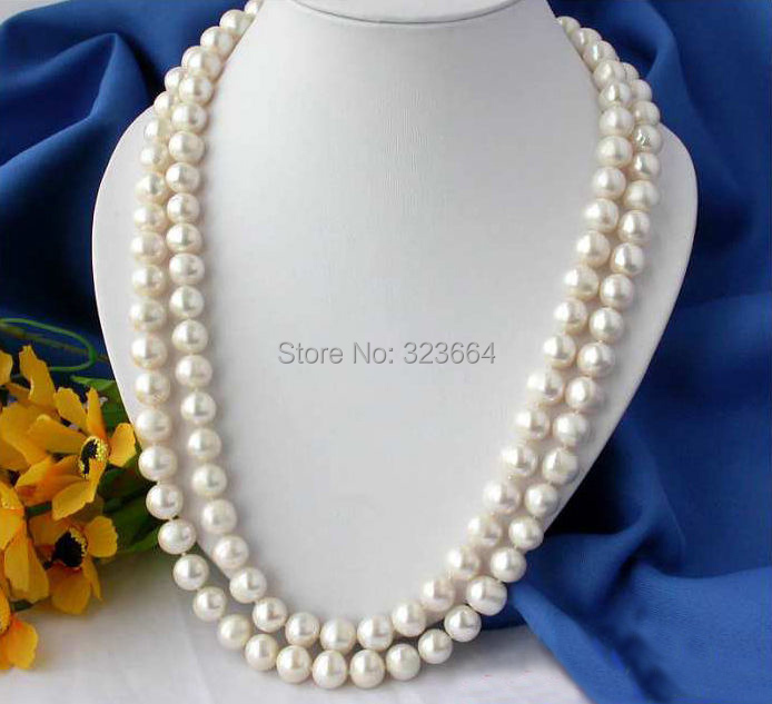 REAL 50 12MM ROUND WHITE FRESHWATER CULTURED PEARL NECKLACE 50 12mm round black freshwater cultured pearl necklace