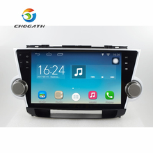 "ChoGath 10.2"" 1.6GHz Quad Core RAM 1G Android 6.1 Car Navigation GPS Player for Toyota Highlander 2008-2012 without Canbus"
