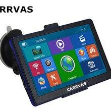 CARRVAS 7 дюймов емкостный экран Автомобильный gps навигатор Bluetooth AVIN FM 8 ГБ/256 м DDR/800 МГц карта Россия/Европа/США+ Канада
