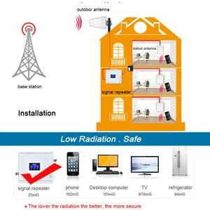 Image 2 - Tri Band טלפון סלולרי אות משחזר 2G 3G 4G 900 1800 2100 GSM 3 pcs אנטנה פנימית סט מגבר מגבר GSM WCDMA LTE #40