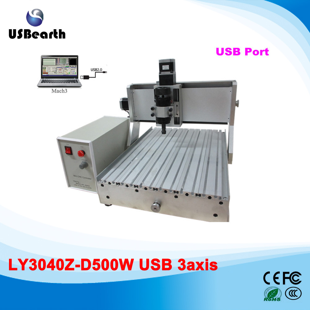 Free ship cheap 3axis 500w 3040 cnc engraving machine /wood router with usb interface купить