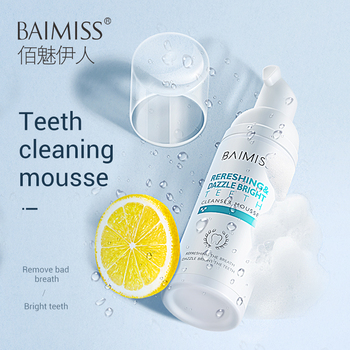 BAIMISS Fresh Shining Tooth-Cleaning Mousse Toothpaste Teeth Whitening Oral Hygiene Removes Plaque Stains Bad Breath Dental Tool 1