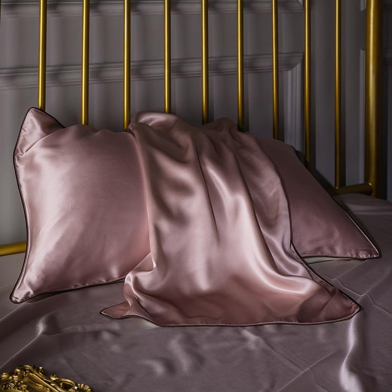 16m m Envelope pillow case Double Face Silk Pillow case RUIYEE brand Satin Pillow Cover 100