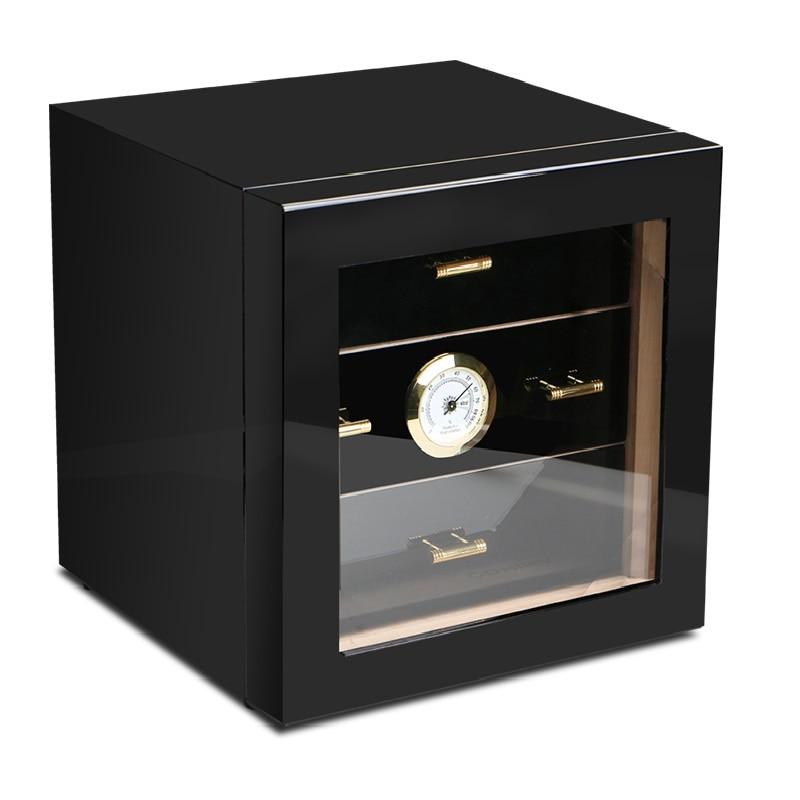 Cigar Humidor High Glossy Piano Finish Luxury cigar cabinets humidors Humidifier for cigar box Small humidor
