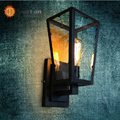 Vintage Iron Glass Box Wall Lamp Dining Room/Industrial House/Corridor/Outdoor Lighting E27 110-240V