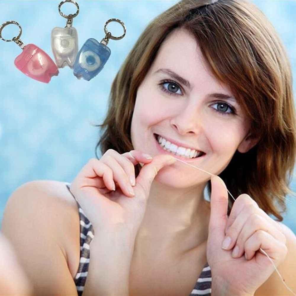 15 M Dental Floss Für Zähne Reinigung Mundpflege Hygiene Mint Zähne Keychain
