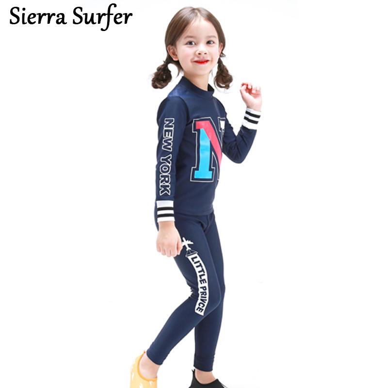 Swimwear Girl Children Girls Bikini Swimsuit ChildrenS 2018 Baby Long Sleeve Trousers Korean Badpak Meisje Zwempak Kinder