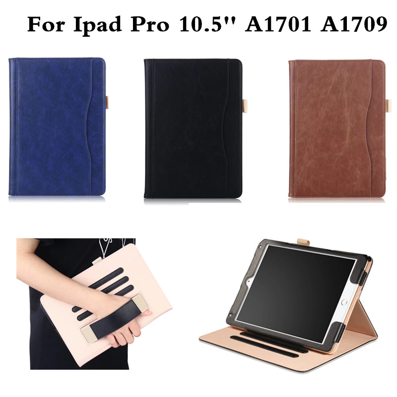 For New Apple iPad Pro 10.5 inch A1701 A1709 Tablet Case Grid Pattern Folio Stand Sleep Wake Up PU Leather Smart Fashion Cover luxury cross pattern book cover card slot folio stand pu leather magnetic smart sleep case for apple ipad pro 12 9 inch tablet