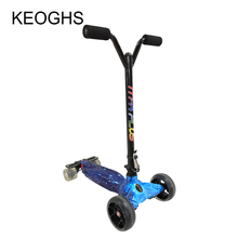 New model drift adult children scooter foldable PU 4wheels glow bodybuilding outdoor all aluminum shock urban campus