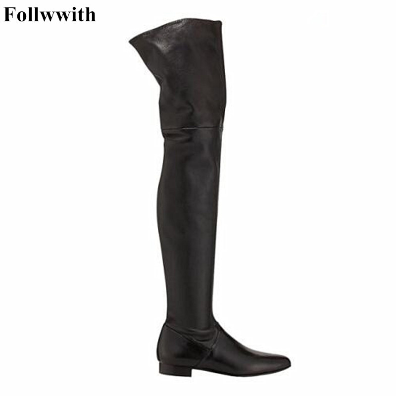 Handmade Quality Faux Suede Slim Boots Sexy Fashion Over the Knee Women Warm Winter Thigh High Botas Black Gray Free Shipping nayiduyun new fashion thigh high boots women faux suede point toe over knee boots stretchy slim leg high heels pumps plus size