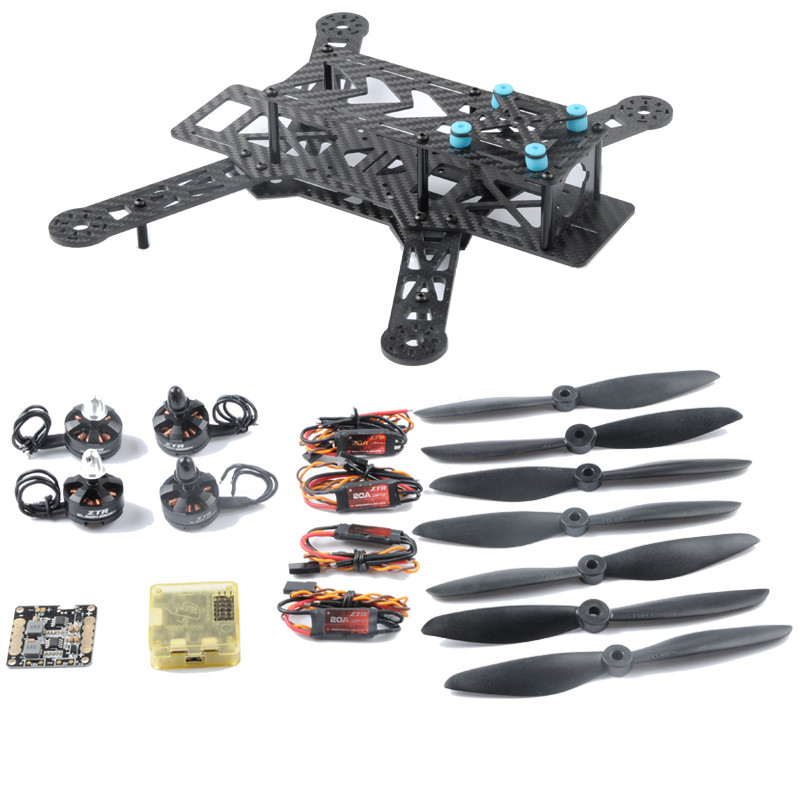 DIY QAV280 FPV Racing Drone with 2204 2300KV Motor 20A ESC CC3D Flight Controller 6045 Propeller qav r 220mm carbon fiber racing drone quadcopte qav r 220 f3 flight controller rs2205 2300kv motor littlebee 20a pro esc blheli