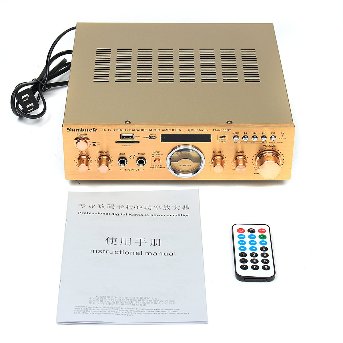 220v 240v 505bt 1200w 5 Channel Stereo Amplifier Bluetooth Sound Audio Booster Mode Music For Car Home In From Consumer Electronics On