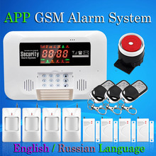 APP GSM Alarm System Door Open Detector Motion Alarm With Relay Control Voice Intercom Menu Guide Home Buglar Alarm System