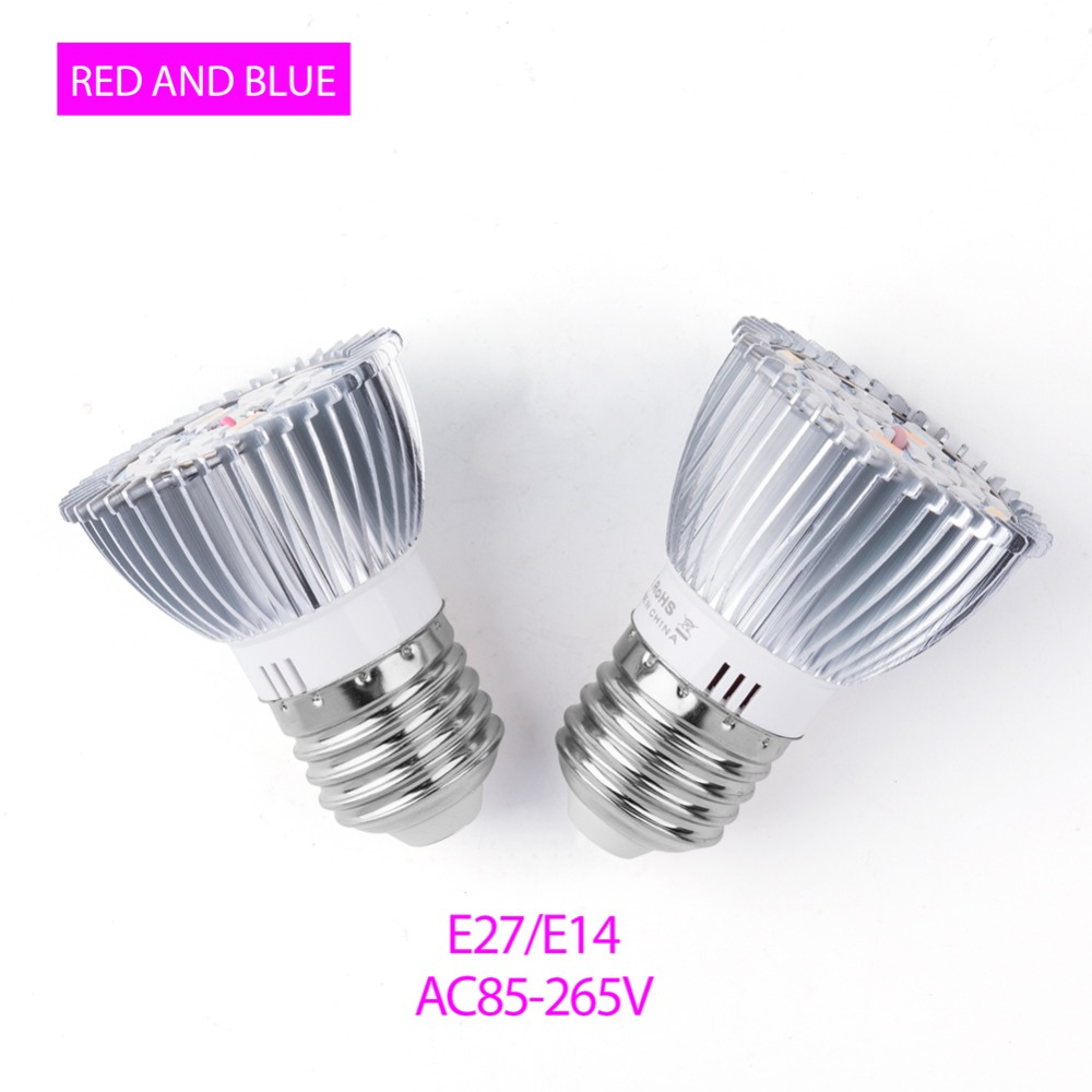 Phyto Lamp E27 LED For Plants 18W 28W Fitolamp E14 LED Grow Light SMD5730 Full Spectrum LED Bulbs Seedling Flower Indoor Growing in LED Grow Lights from Lights Lighting