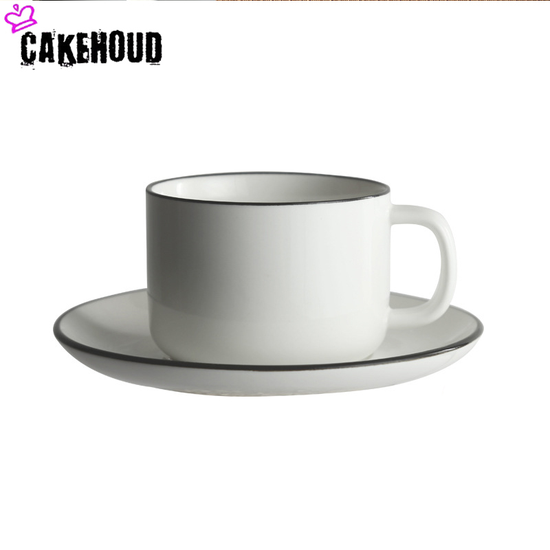 CAKEHOUD Creative Ceramic Coffee Cup And Saucer Set European Afternoon Tea Coffee Cup And Saucer Tea Set Coffee Supplies