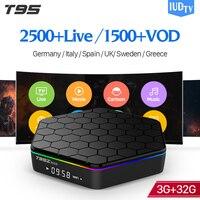 [Genuine] T95Z Plus 32GB Android 7.1 TV Box IPTV 1 Year IUDTV Code IPTV Europe Swedish Norway French Spanish Arabic IP TV Box