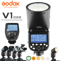 Godox V1 V1C V1N V1S TTL Li ion Round Head Camera Flash Xpro AK R1 Accessory Kit 2.4G HSS 1/8000s Speedlite for Canon Nikon Sony